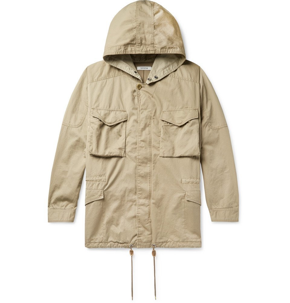 Photo: nonnative - Hunter Cotton and Linen-Blend Twill Hooded Field Jacket - Beige