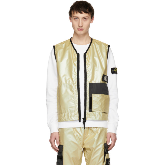 Photo: Stone Island Gold Iridescent Vest