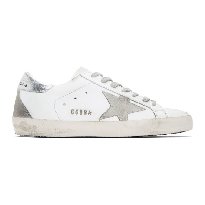 Photo: Golden Goose White and Silver Superstar Sneakers