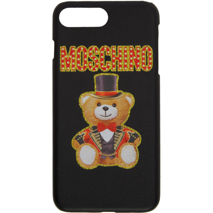 size 40 84592 e8f38 Moschino Black Teddy Bear iPhone 8 Plus Case