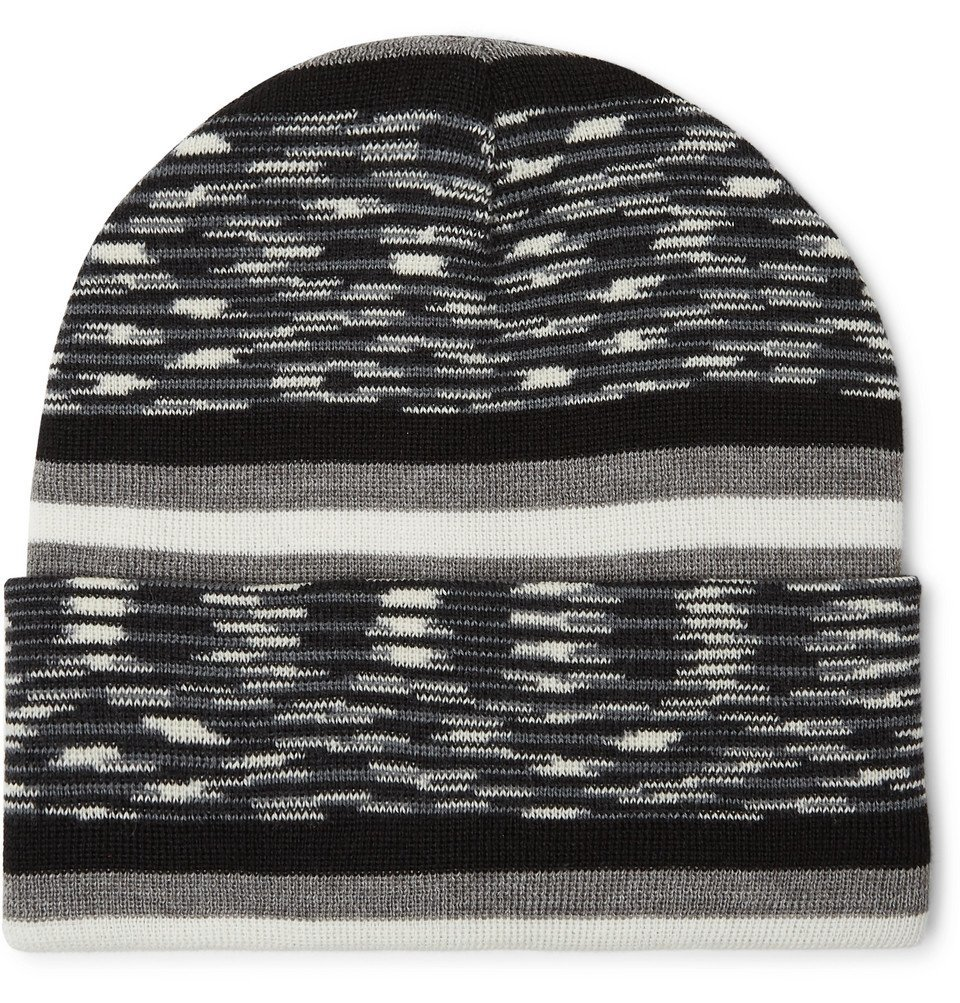 Photo: Missoni - Space-Dyed Wool-Blend Beanie - Black