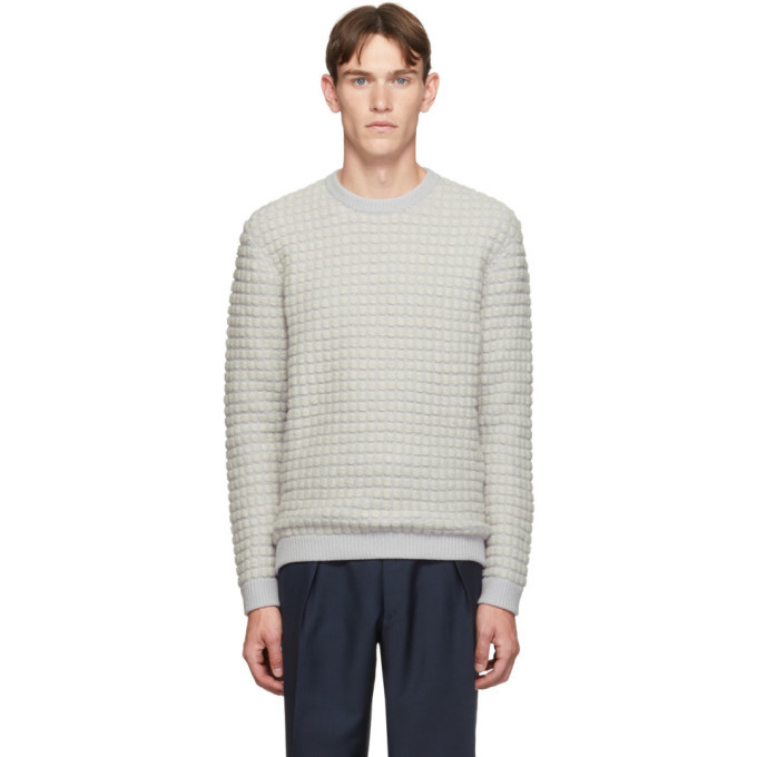 Giorgio Armani Off-White Bubble Knit Sweater