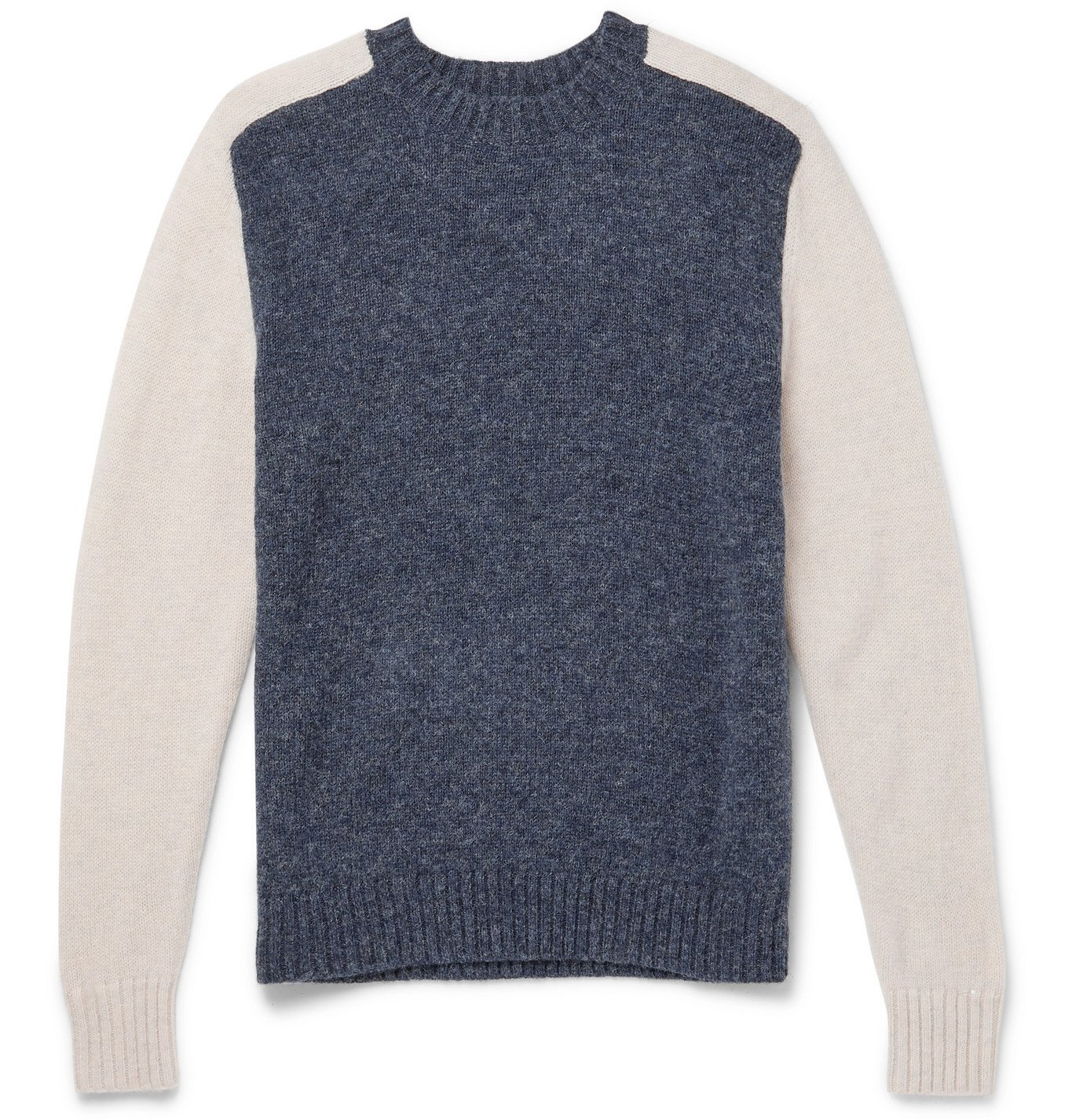 Photo: Bellerose - Colour-Block Shetland Wool Sweater - Blue