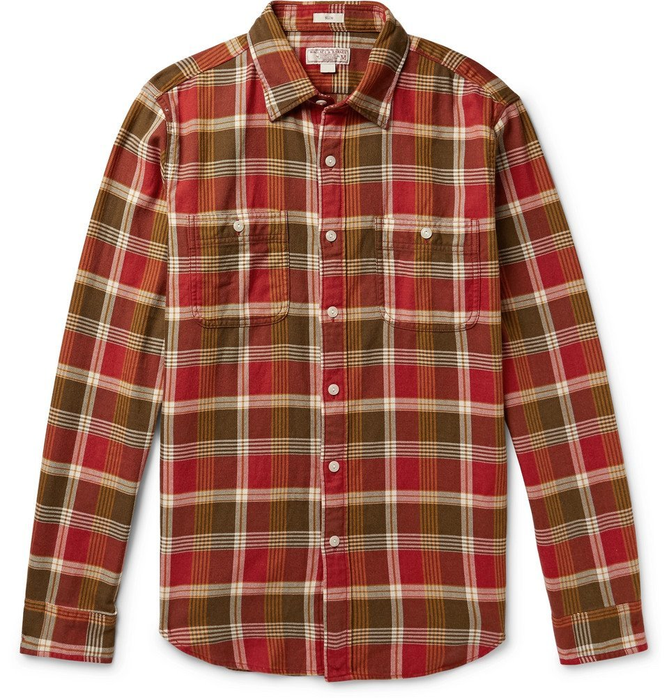 Photo: J.Crew - Wallace & Barnes Slim-Fit Checked Cotton-Flannel Shirt - Men - Red