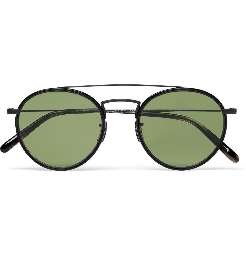 Oliver Peoples - Ellice Round-Frame Metal Sunglasses - Men - Black