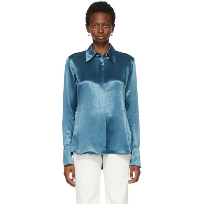 Photo: Acne Studios Blue Satin Shirt