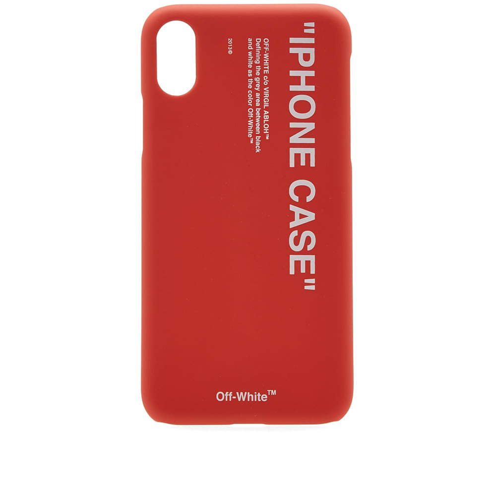 Photo: Off-White Quote iPhone X Case
