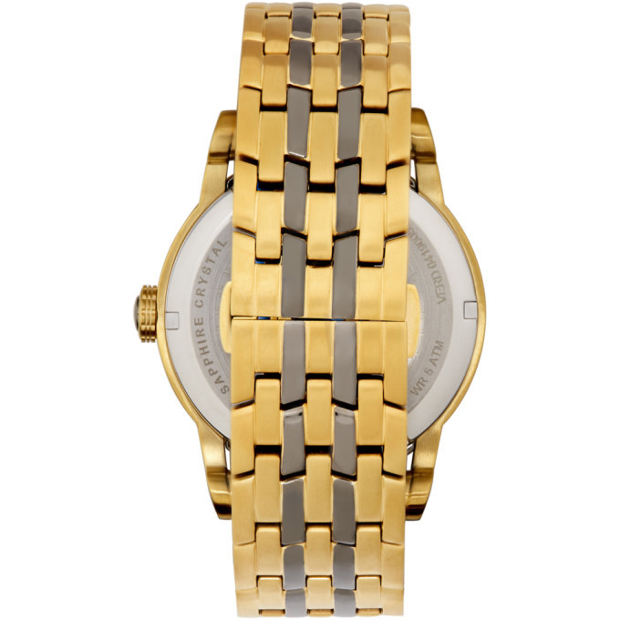 Versace Gold and Gunmetal Palazzo Empire Watch