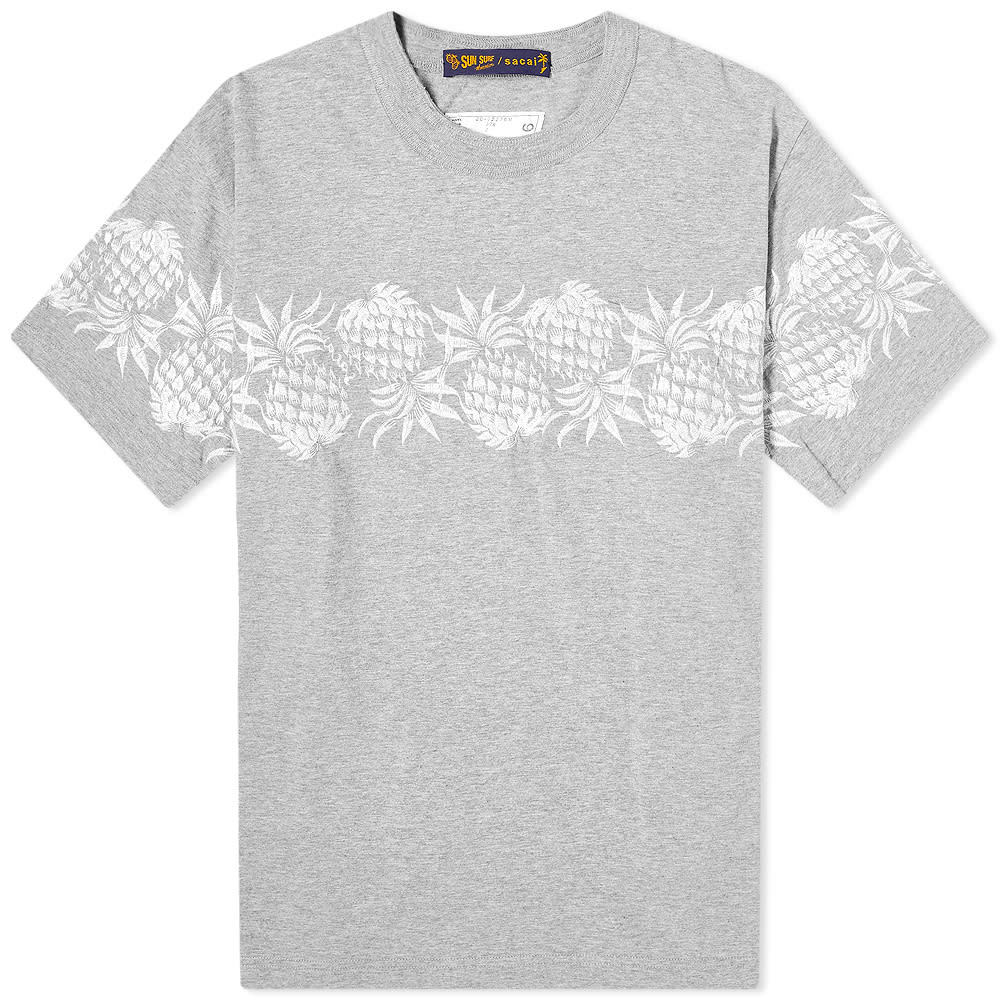 Sacai x Sun Surf Pineapple Embroidered Tee