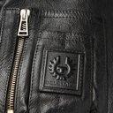 Belstaff - Arne Shearling-Trimmed Leather Bomber Jacket - Men - Black