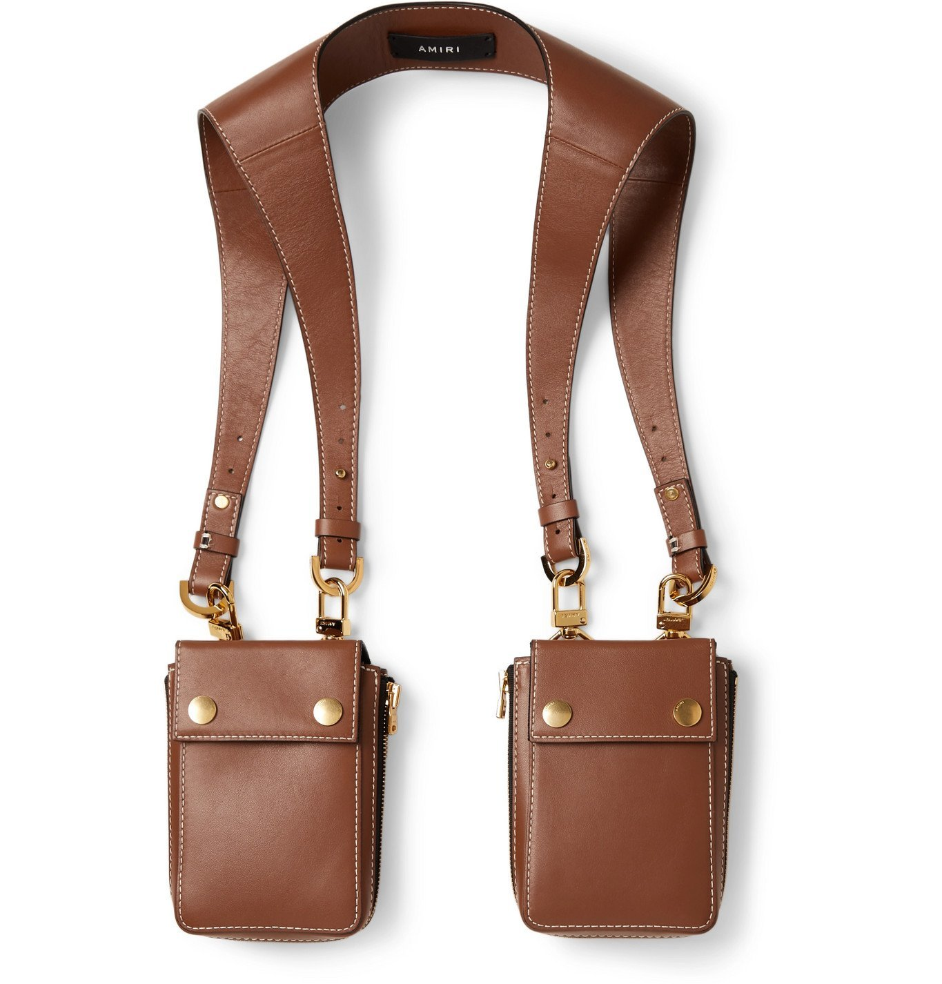 Photo: AMIRI - Leather Harness Bags - Brown