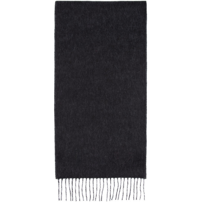 Photo: Loewe Black and Off-White Anagram Scarf