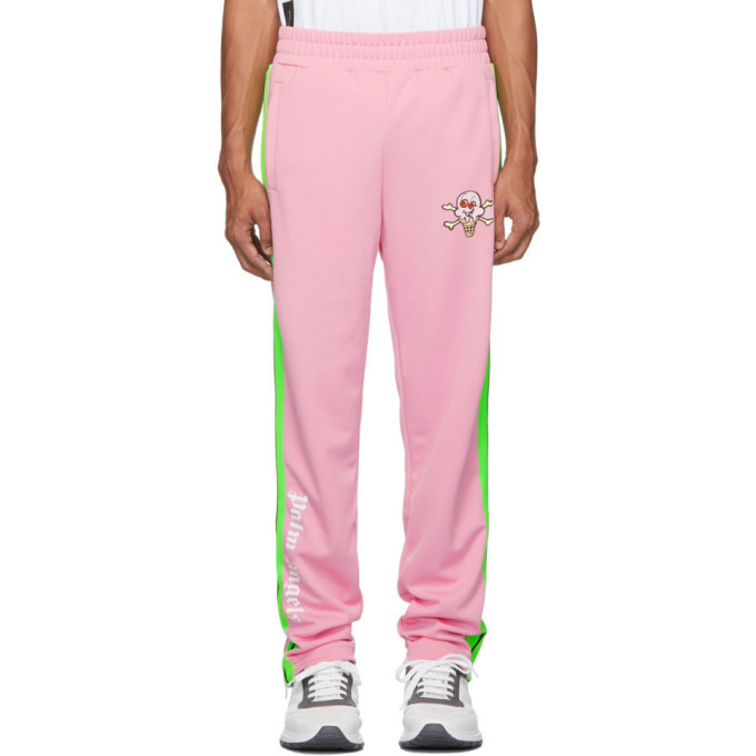 Photo: Palm Angels Pink Ice Cream Skull Track Pants