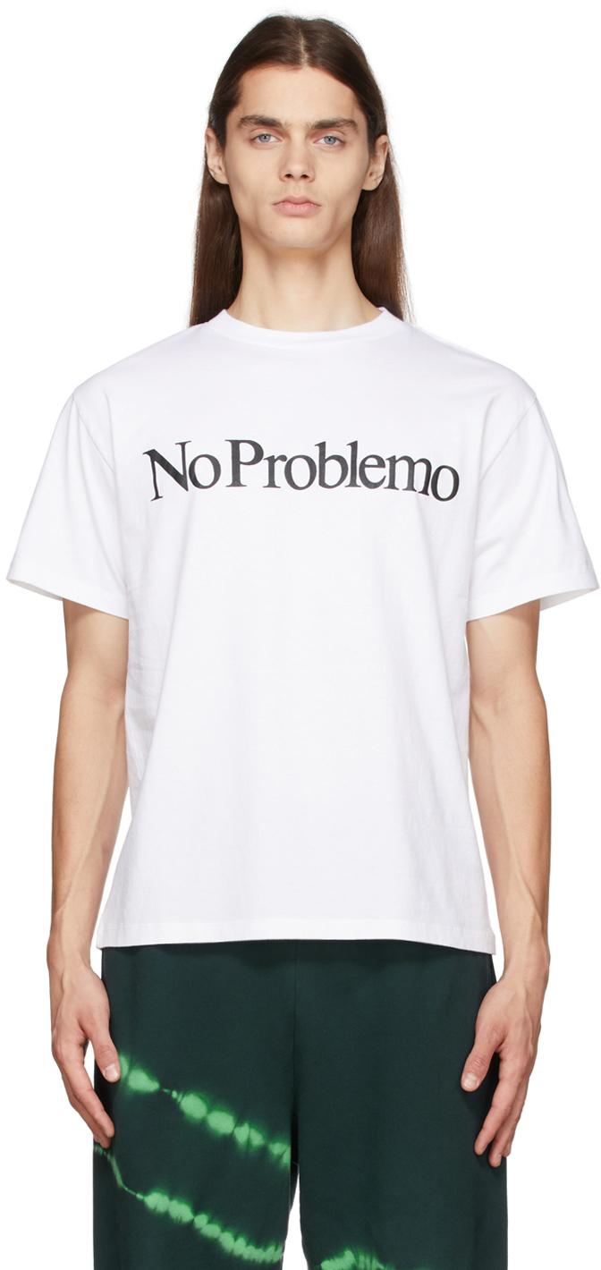 Photo: Aries White 'No Problemo' T-Shirt