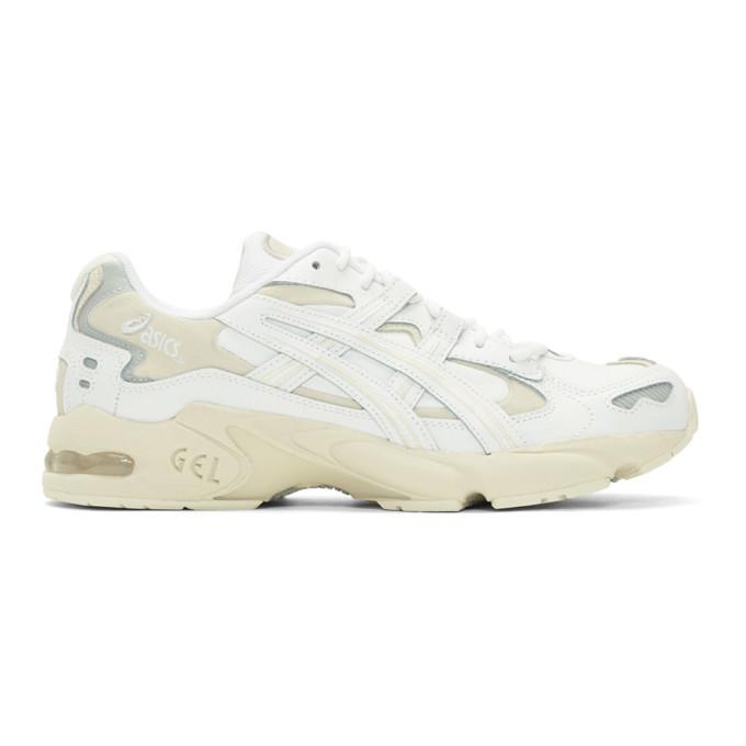 Photo: Asics White and Beige Gel-Kayano 5 OG Sneakers