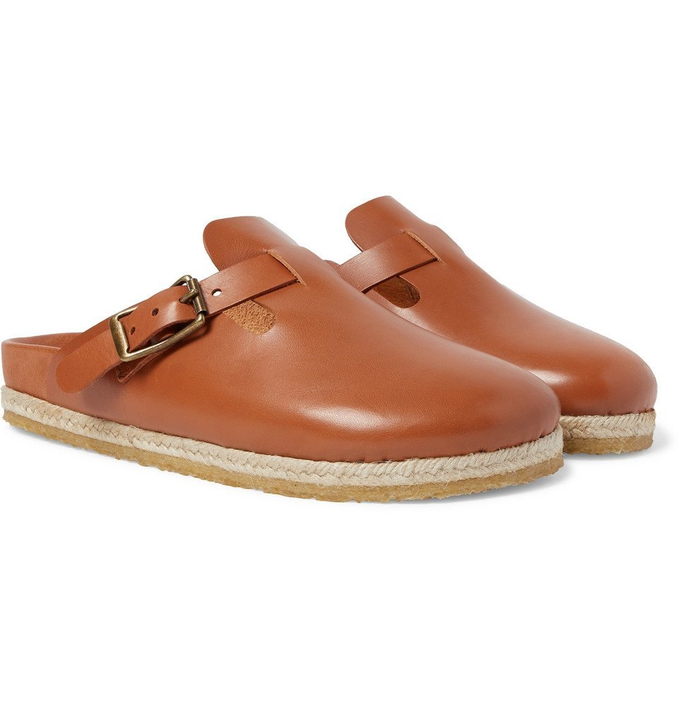 Photo: Yuketen - Bostonian Leather Slides - Brown