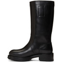 Raf Simons Black Piercing Tall Boots