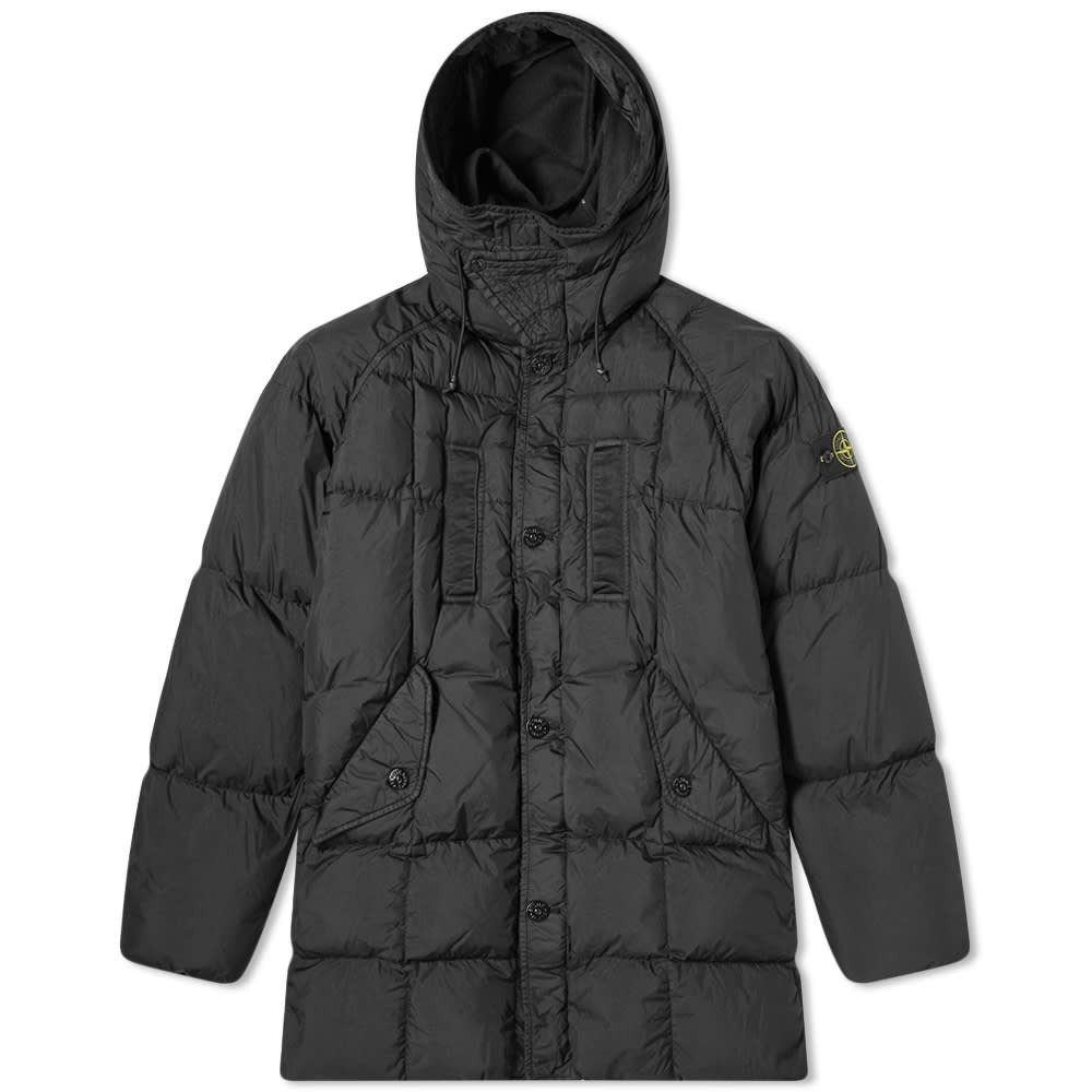 Photo: Stone Island Long Crinkle Reps Down Jacket