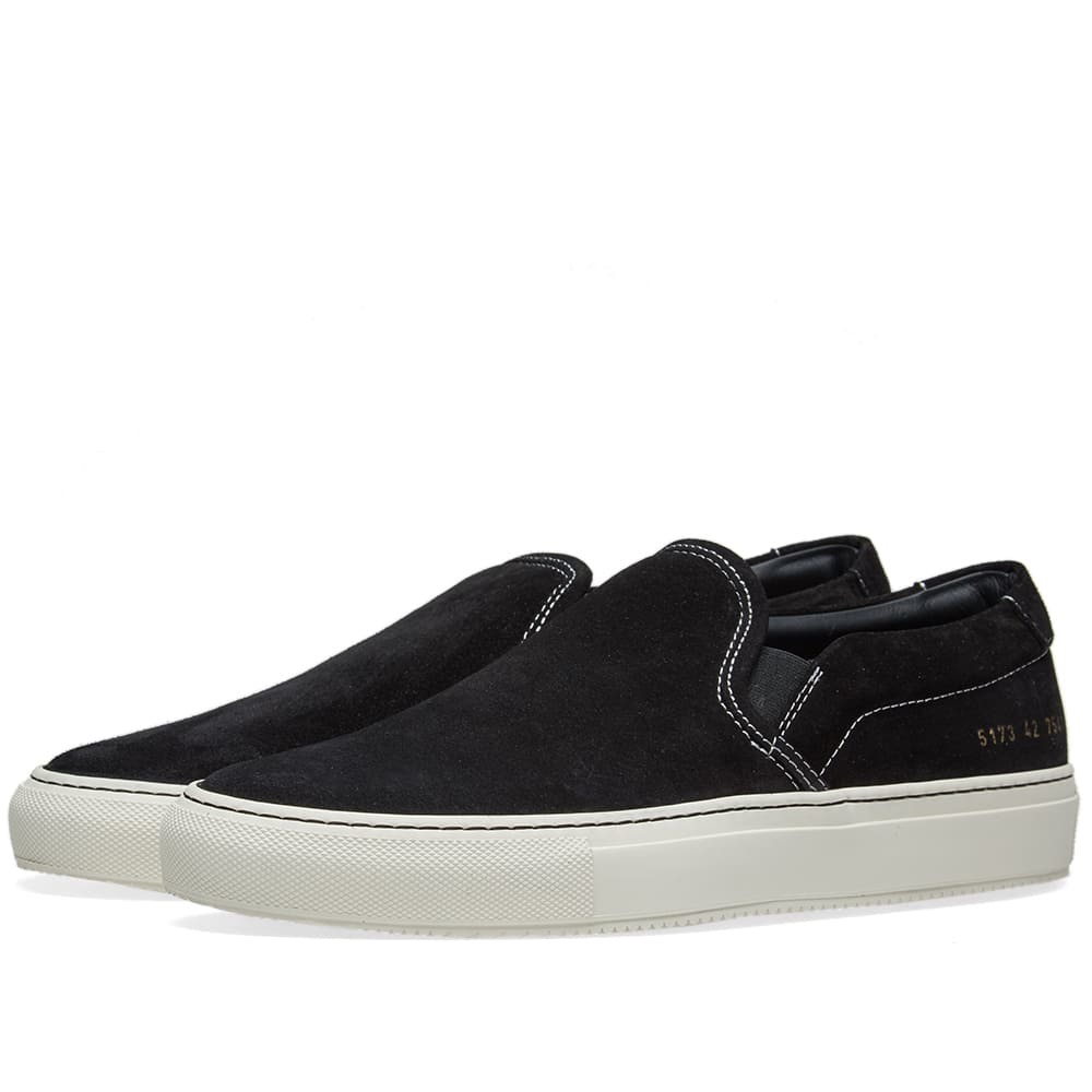 Photo: Common Projects Slip On Suede Black