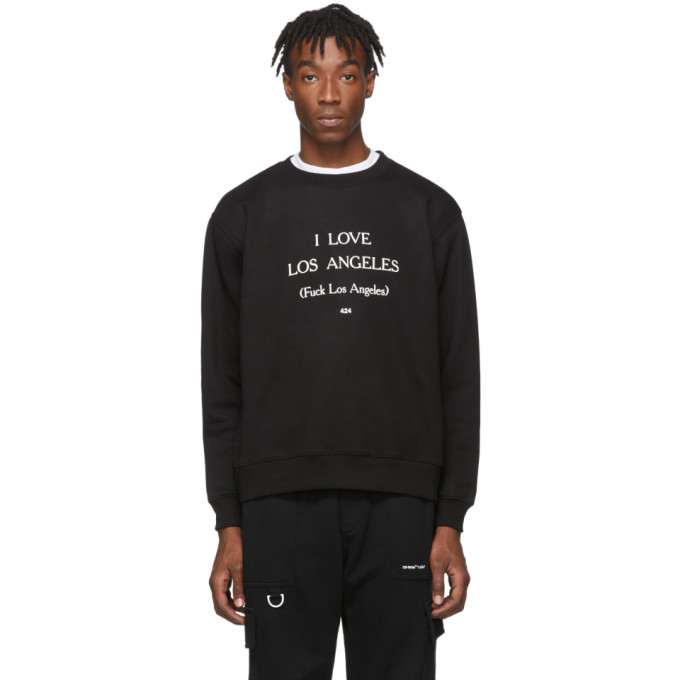 Photo: 424 Black I Love Los Angeles Sweatshirt