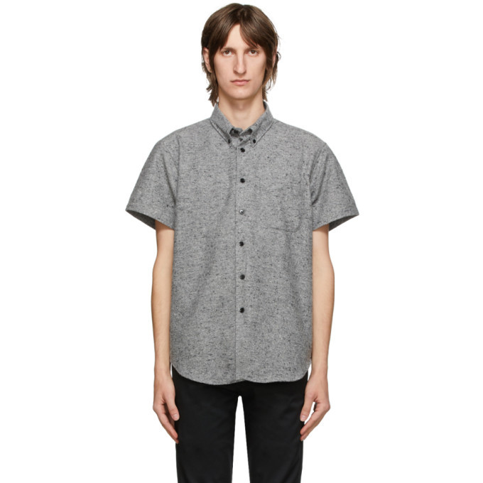 Photo: Naked and Famous Denim Grey Easy Short Sleeve Shirt