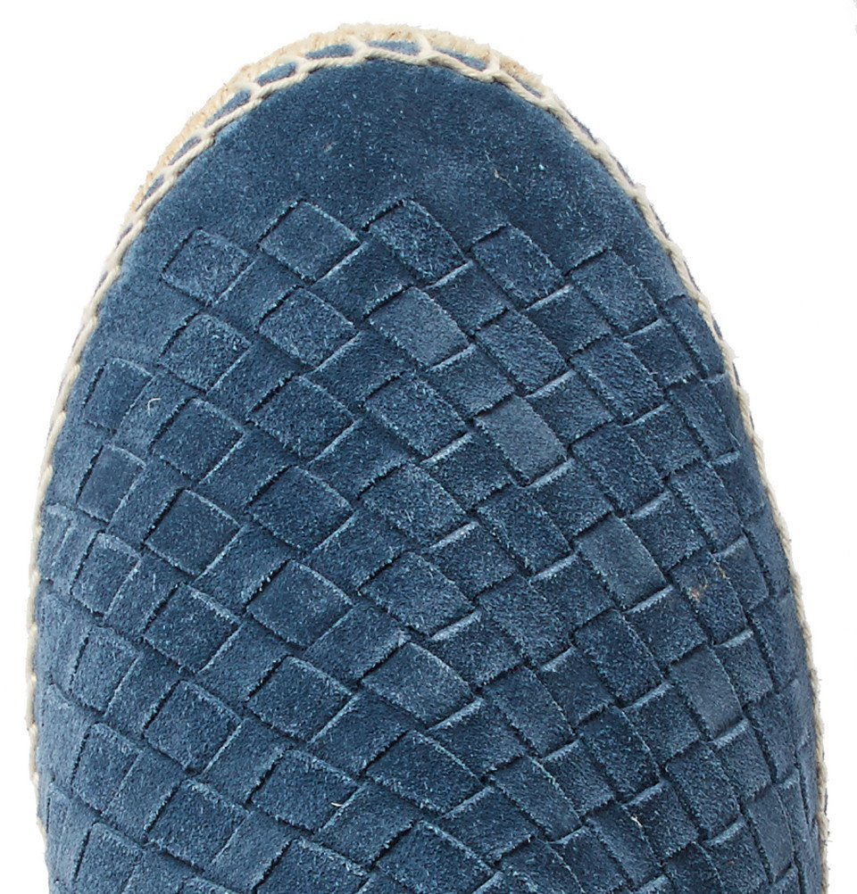 Bottega Veneta - Intrecciato Suede Espadrilles - Men - Blue