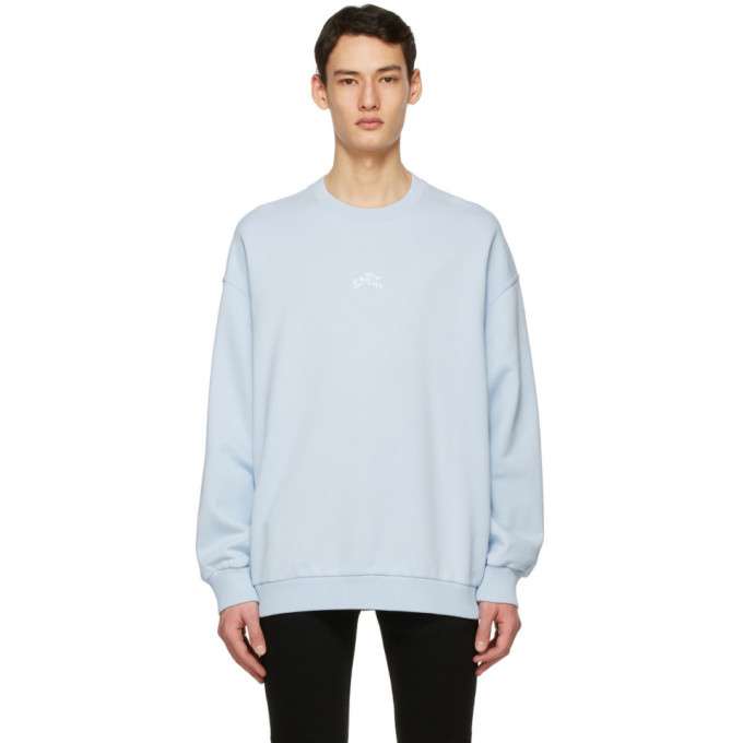 Photo: Givenchy Blue Embroidered Refracted Sweatshirt