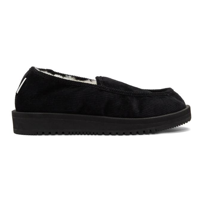 Photo: Suicoke Black Shearling-Lined SSD-CoM Loafers