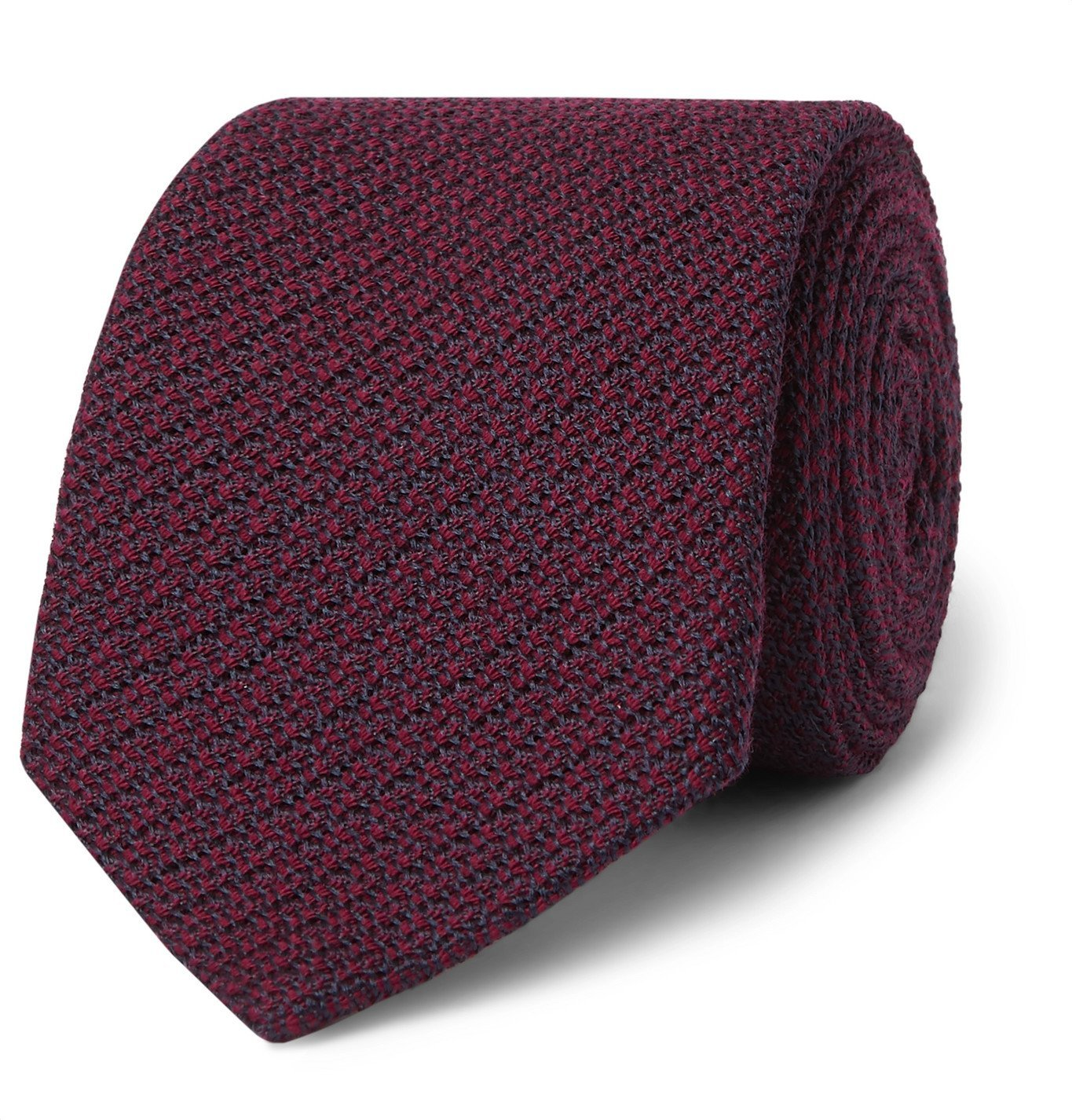 Photo: Canali - 8cm Wool and Silk-Blend Jacquard Tie - Burgundy