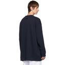 Raf Simons Navy Oversized Crewneck Sweater