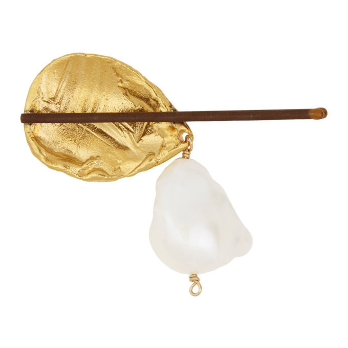 Alighieri Gold Pearl Apollos Dance Hair Slide