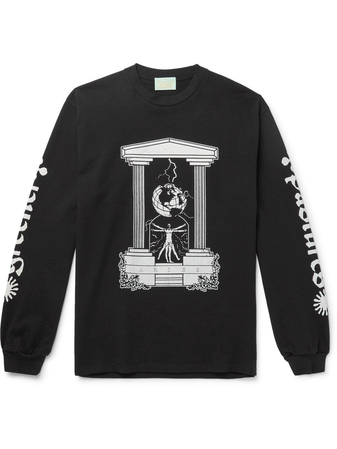 Photo: ARIES - Biology Printed Cotton-Jersey T-Shirt - Black