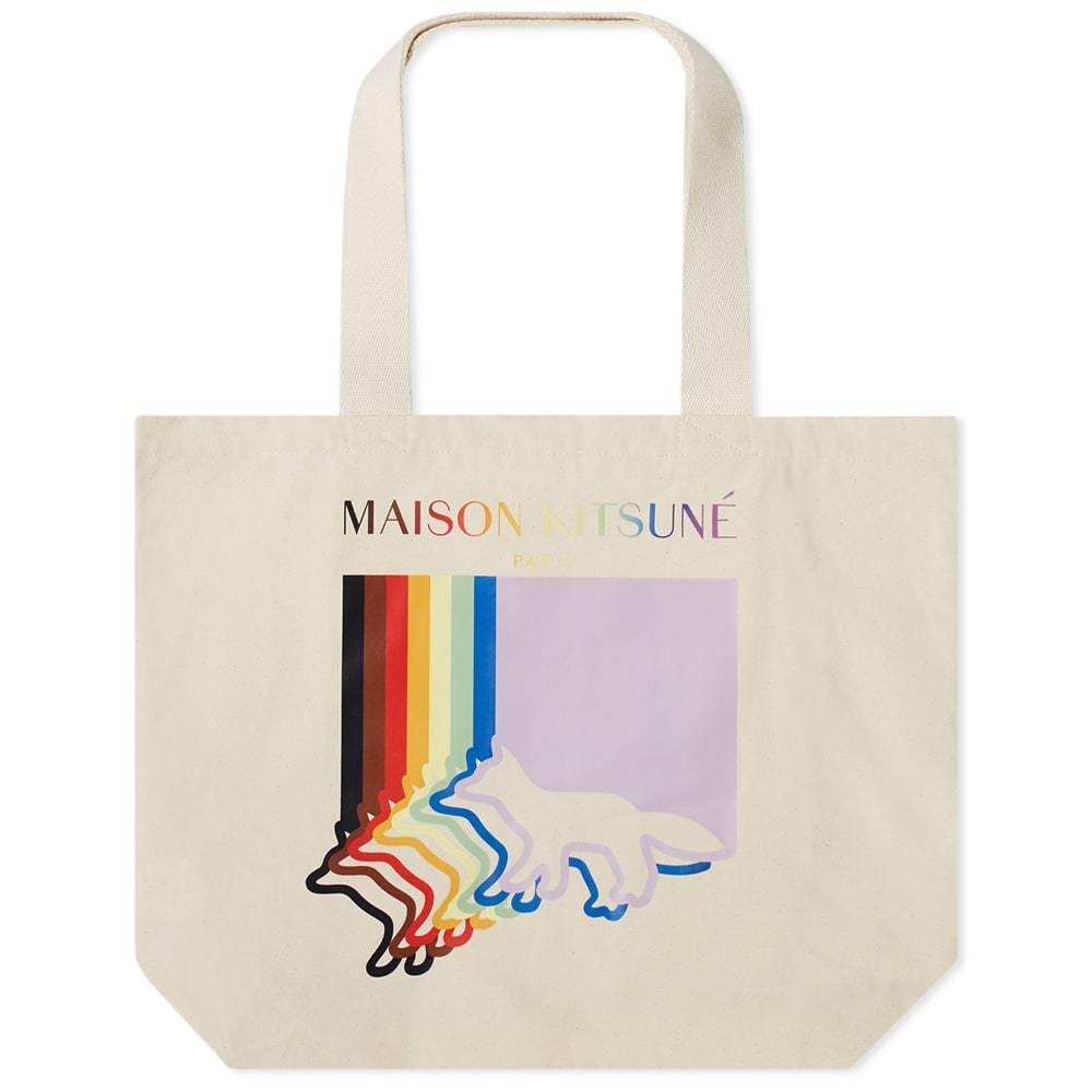 Photo: Maison Kitsune x Trevor Project Fox Flag Classic Tote