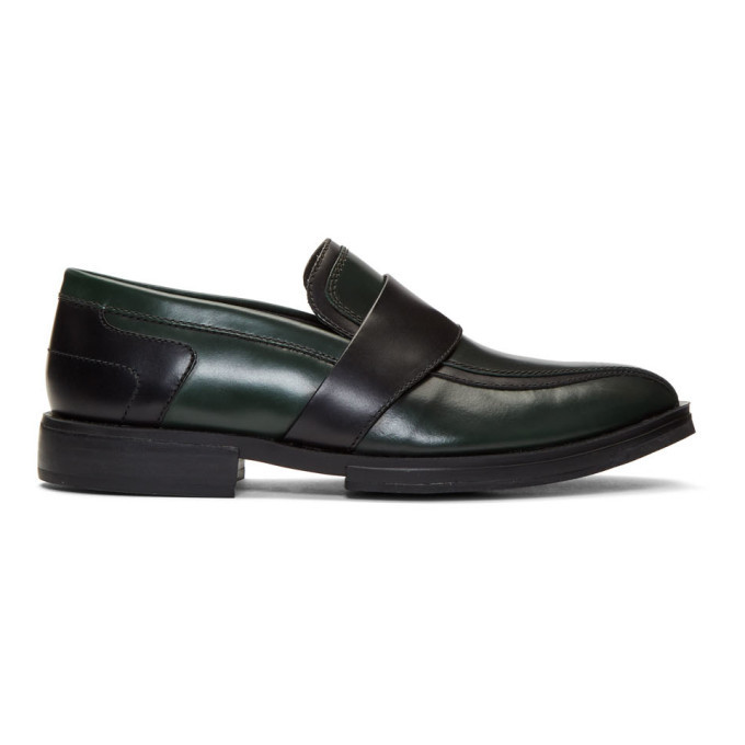 Photo: Kiko Kostadinov Green and Black Box Loafers