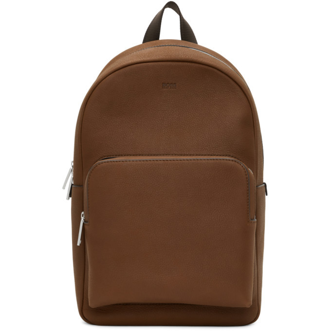 Photo: Boss Brown Leather Crosstown Backpack
