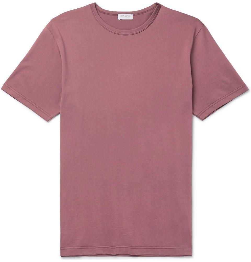 Sunspel - Cotton-Jersey T-Shirt - Burgundy
