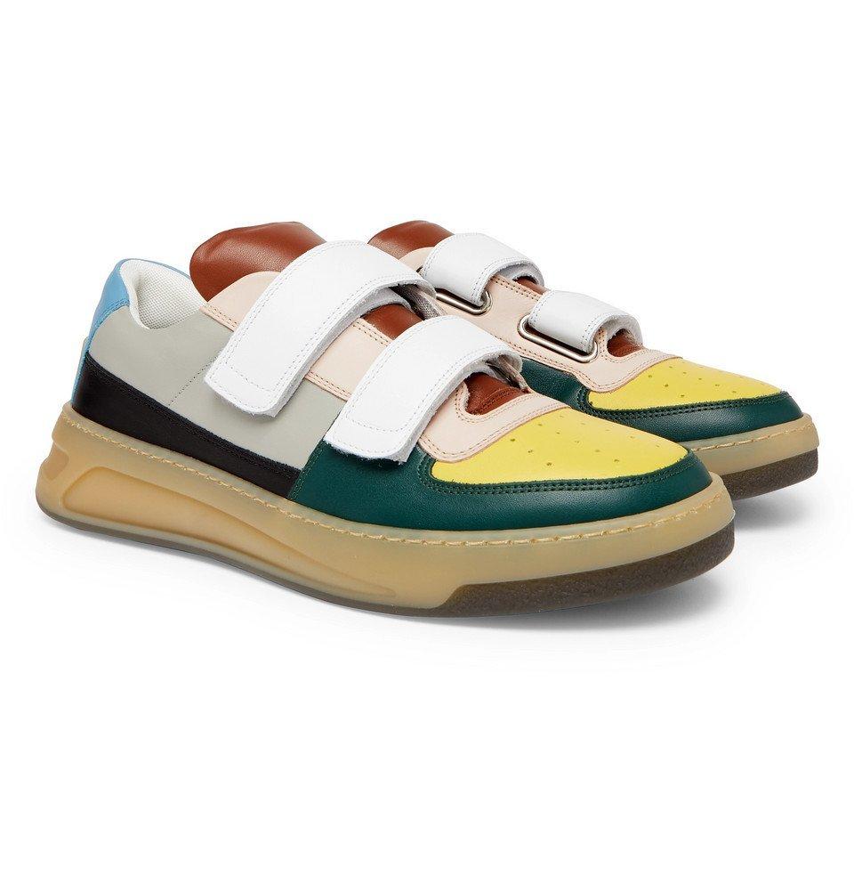 Acne Studios - Perey Colour-Block Leather Sneakers - Multi