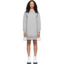 Sacai Grey and White Sponge Sweatshirt Dress