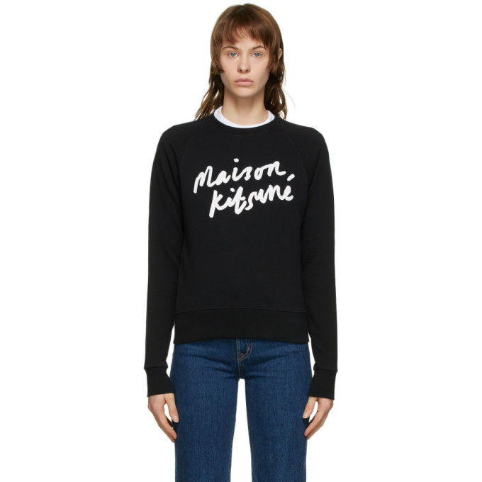 Photo: Maison Kitsune Black Handwriting Sweatshirt