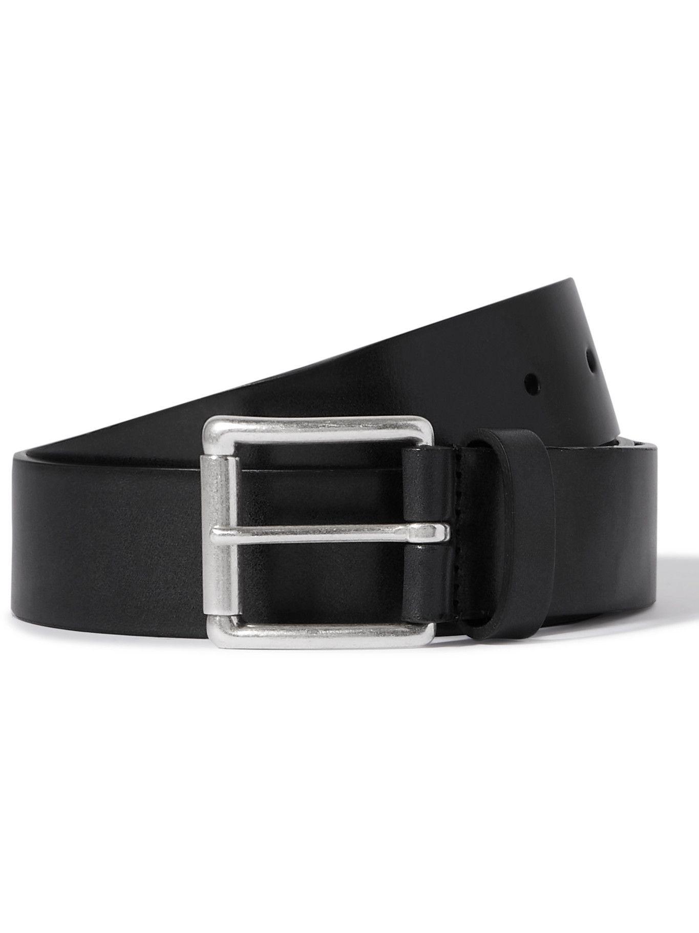 Photo: ANDERSON'S - 3.5cm Leather Belt - Black