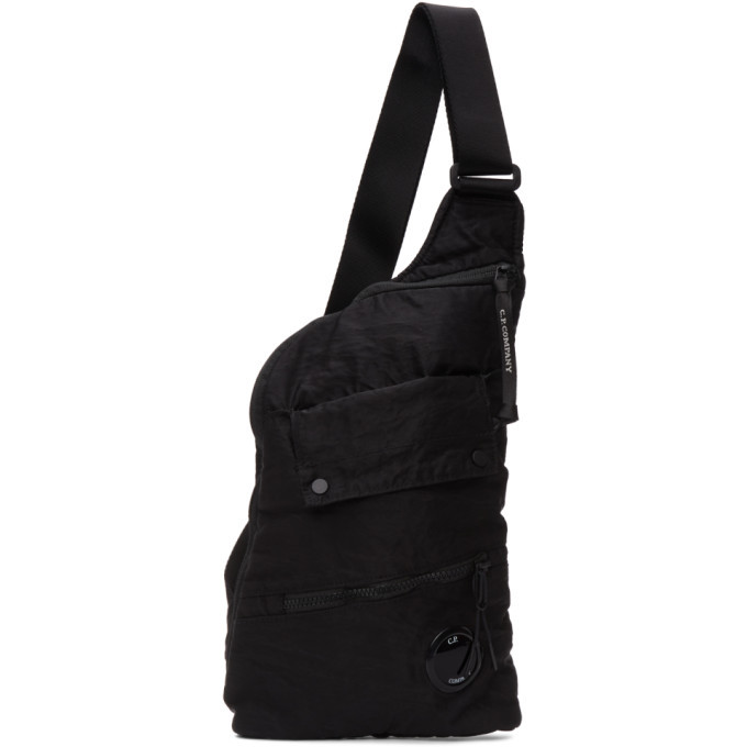 Photo: C.P. Company Black Nylon B Garment-Dyed Messenger Bag