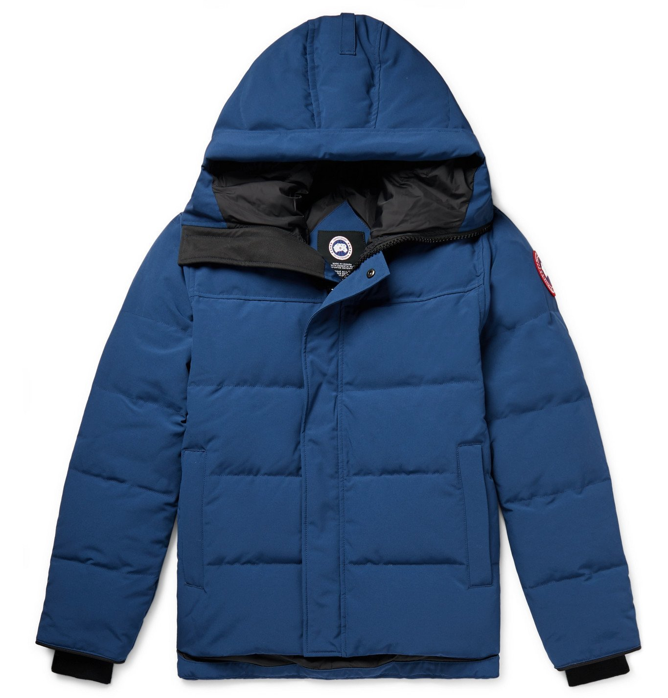 Photo: Canada Goose - MacMillan Quilted Arctic Tech Hooded Down Parka - Blue