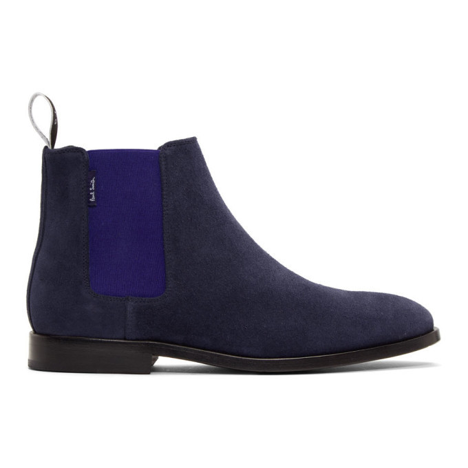 Photo: PS by Paul Smith Navy Gerald Chelsea Boots