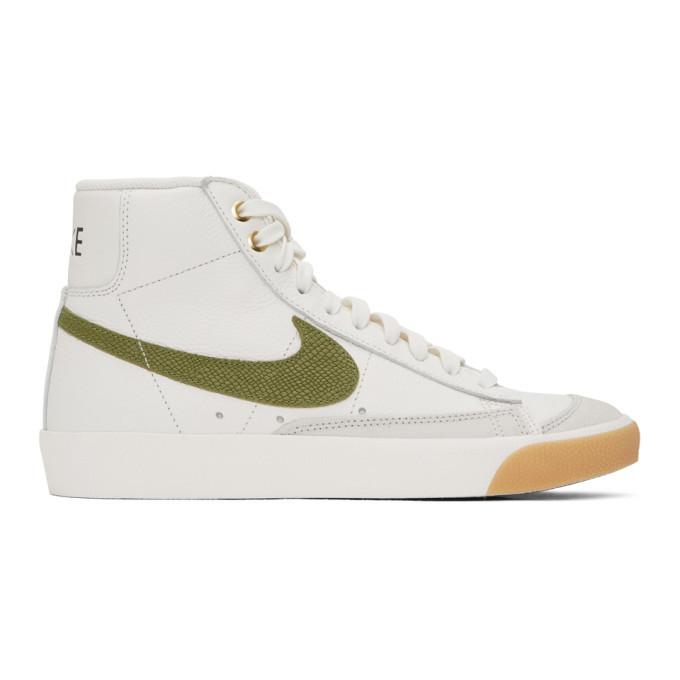 Photo: Nike White Croc Blazer Mid 77 Vintage Sneakers
