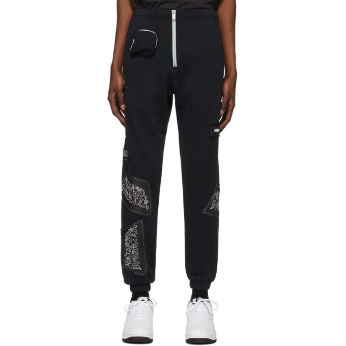 Photo: Heron Preston Black Sami Miro Vintage Edition Patch Lounge Pants