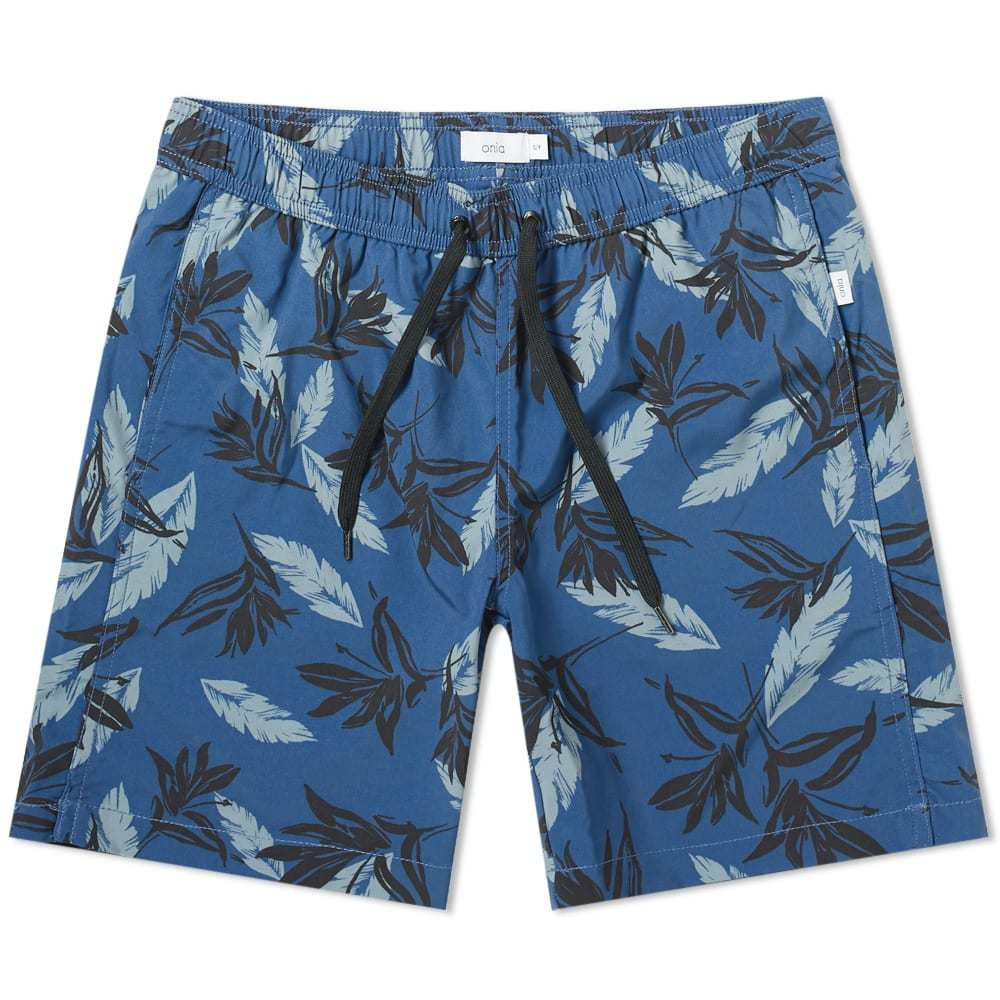 "Photo: Onia Charles 7"" Bird of Paradise Swim Short"