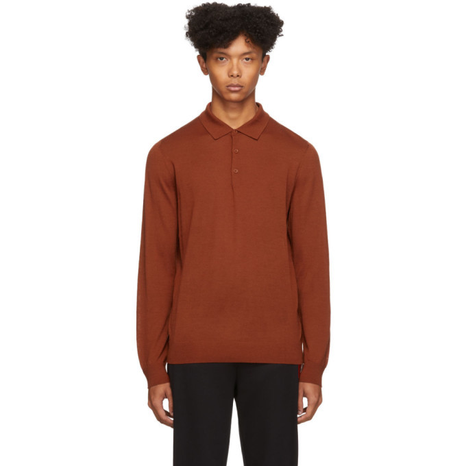 Photo: Hugo Orange San Giovanni Long Sleeve Polo