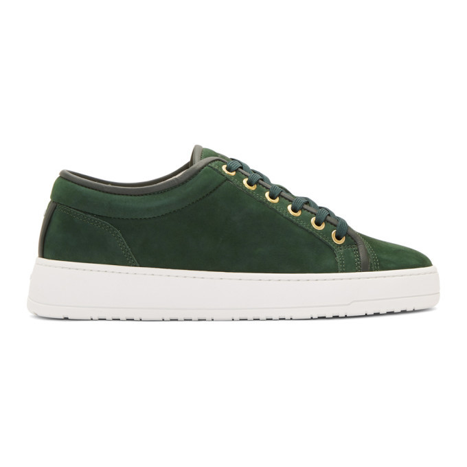Photo: ETQ Amsterdam Green LT 01 Waxed Sneakers