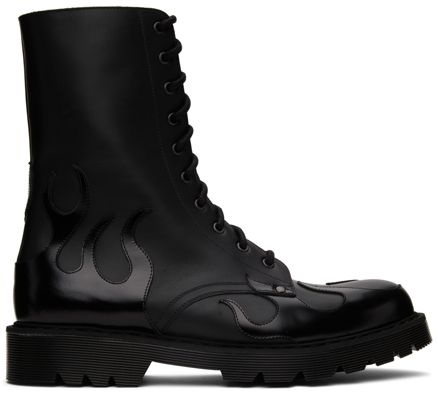 Photo: VETEMENTS Black Fire Military Lace-Up Boots