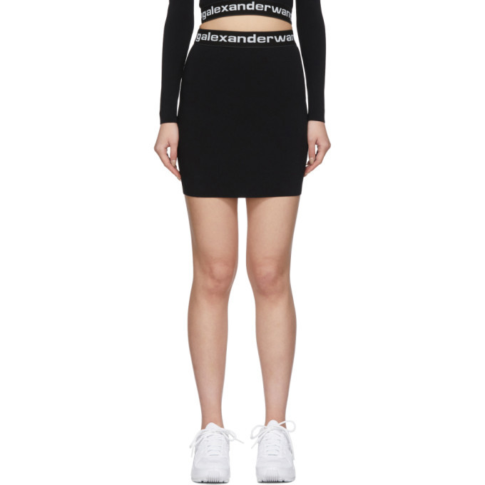 Photo: alexanderwang.t Black Bodycon Miniskirt